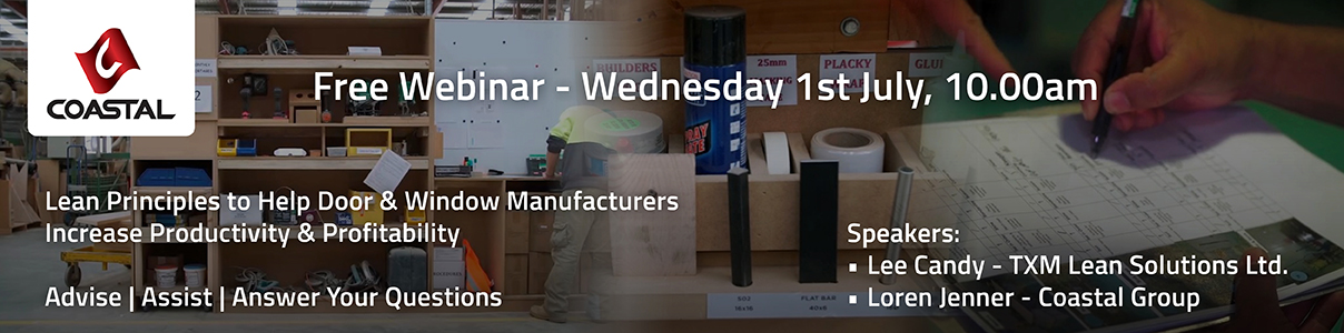 Free Webinar - Lean Principles to Help Door & Window Manufacturers Increase Productivity & Profitability